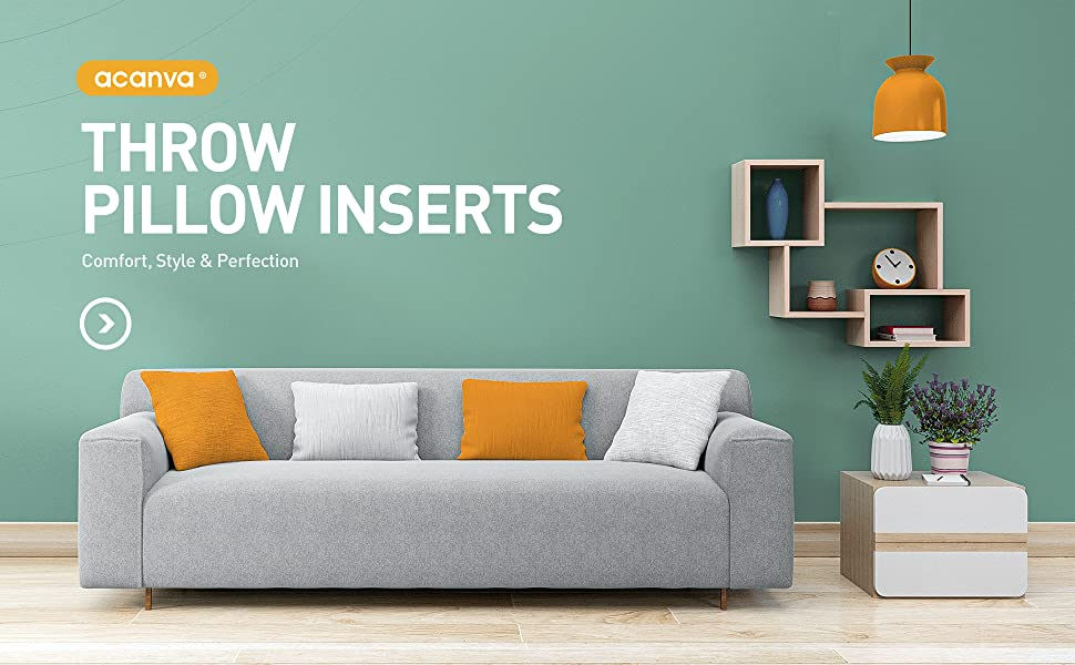 pillow inserts, pillow insert, throw pillow inserts, sofa pillows