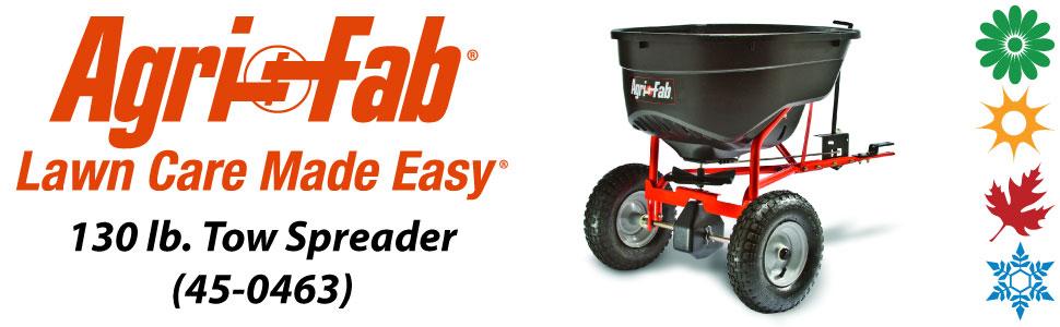 Agri-Fab, Inc. 130 lb. Tow Broadcast Spreader Model #45-0463