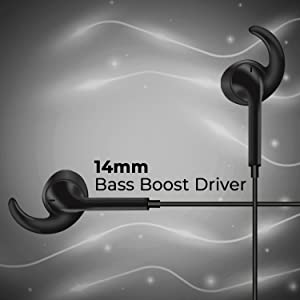Foxin Bass PRO B3 in-Ear Wired Headphones with Mic (Black)