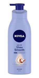 shea smooth, body lotion, nivea