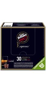 caffè vergnano capsule compostabili espresso compatibili nespresso arabica