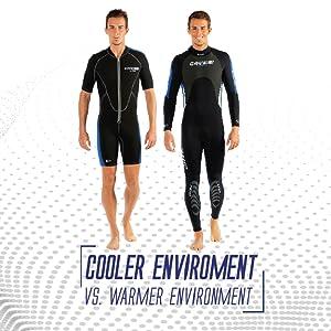 Cressi Mens & Ladies Ultraspan Scuba Diving Wetsuit made in Premium Material   Morea designed in Italy: quality since 1946