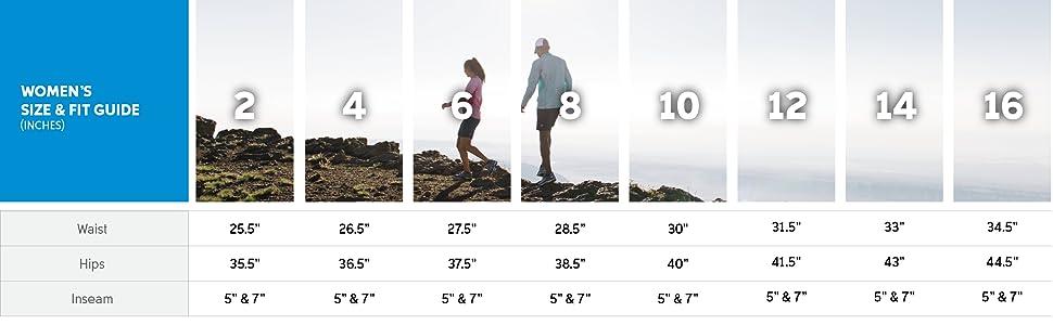 Women's shorts sizing