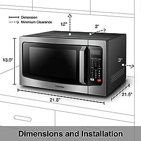 Amazon.com: Toshiba EC042A5C-SS Countertop Microwave Oven