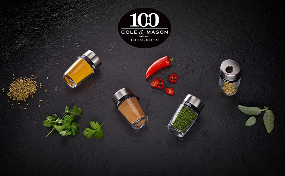 Spice Cole amp; Mason 16 Rack Spice Jars
