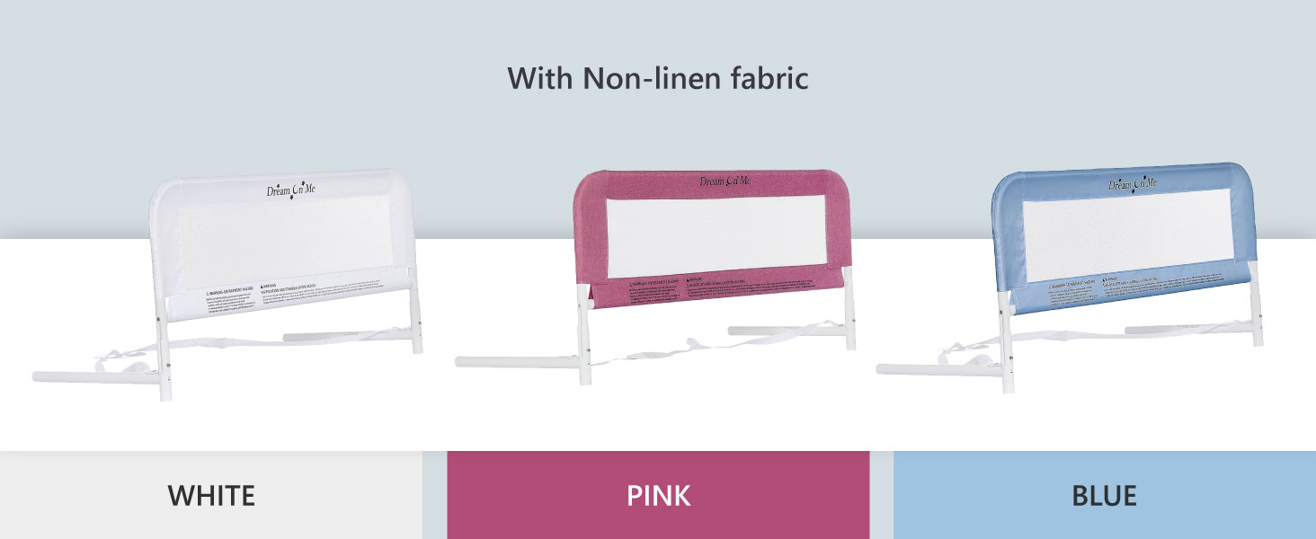 bed rail in pink for girls,bed rail in white, blue bed rail, bed rail for girls, bed rail for boys