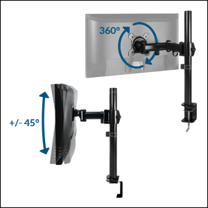 ARCTIC Z1 basic - Brazo para sujetar monitores de 13