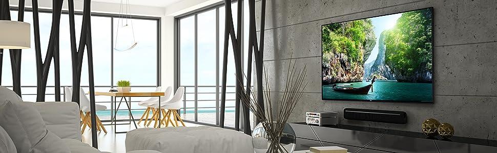 jvc lt 43v14ju 110 cm 43 zoll fernseher 4k uhd hdr 10 triple tuner smart tv. Black Bedroom Furniture Sets. Home Design Ideas