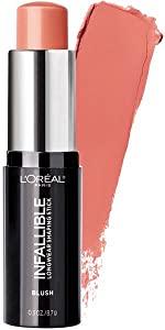 loreal, blush, face makeup, blush sticks, makeup sticks