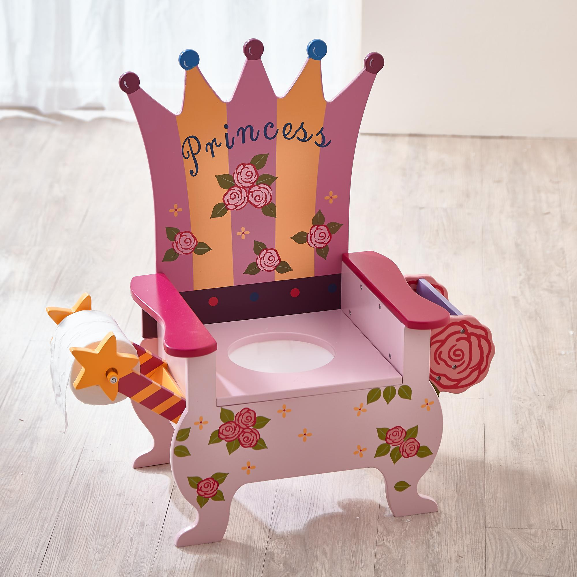 Teamson Kids Princess Potty Chair With Book Holder And