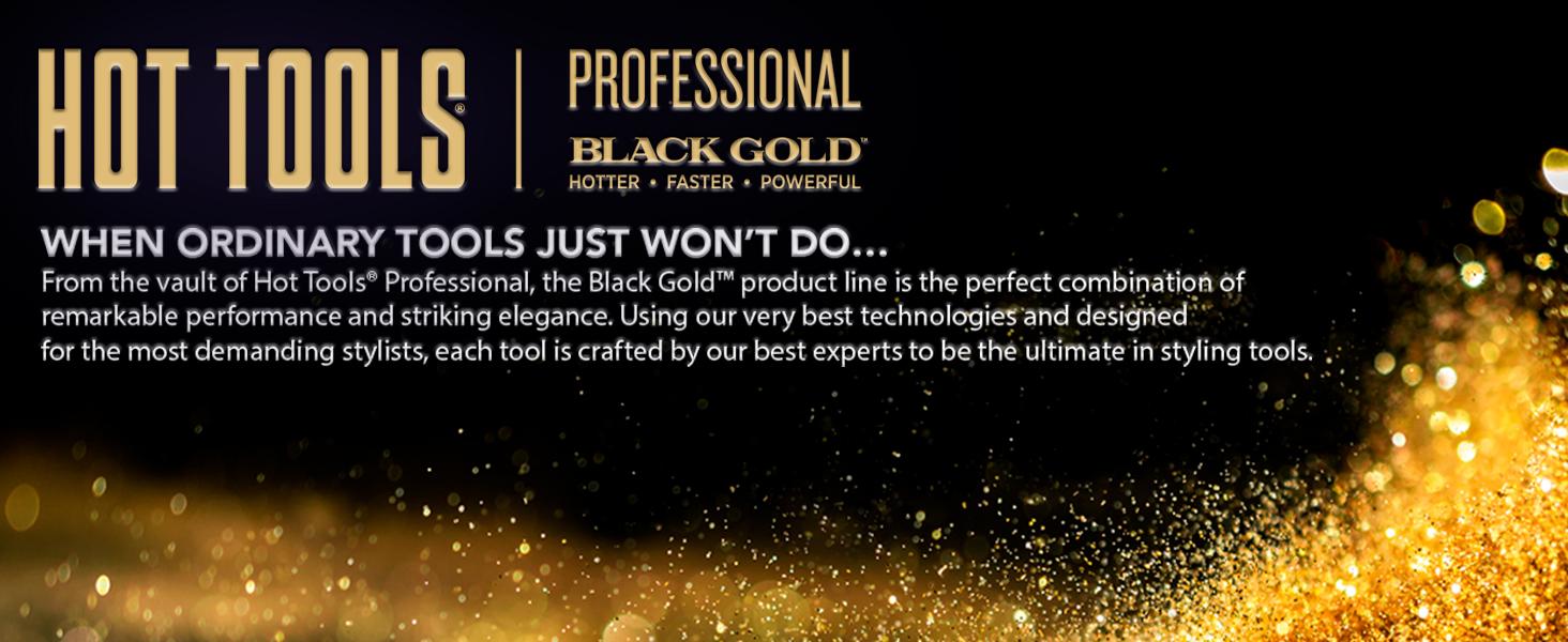 hot tools, hot tools professional, pro; salon; black gold