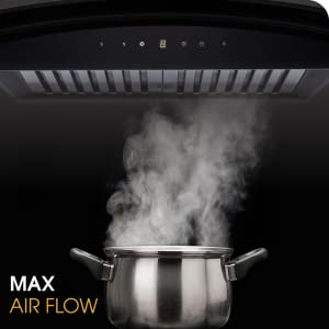 Whirlpool 60 cm 1100 m³/HR Auto-Clean Glass Kitchen Chimney (CG 601 HAC HOOD, Filter, SPN-FOR1P