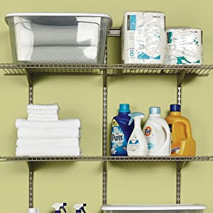 ClosetMaid ShelfTrack 4ft Adjustable Organizer Kit Nickel