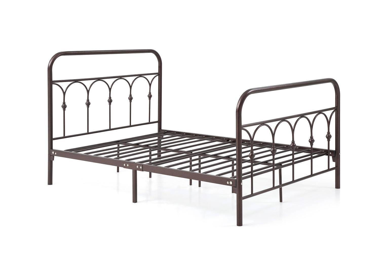 Amazon.com: Hodedah Complete Metal Bed With Headboard