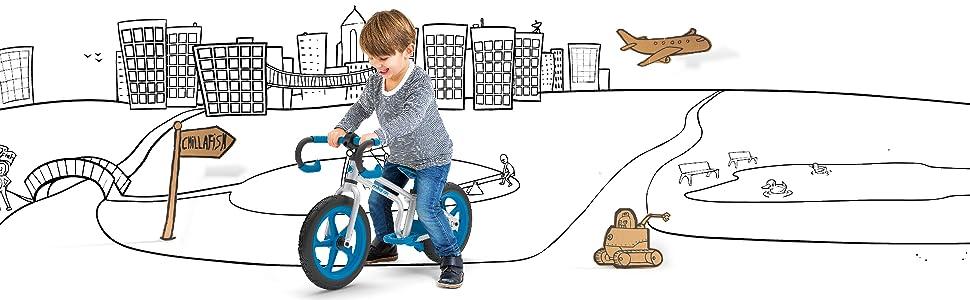 silver balance bike frame