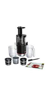 Bosch MESM731M VitaExtract Extractor de jugos, con tecnología de prensado lento, sistema MixControl con regulador de pulpa: Amazon.es: Hogar