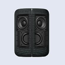 Angled speaker units and MRC speaker cone