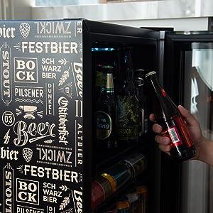 beer cooler, beer fridge