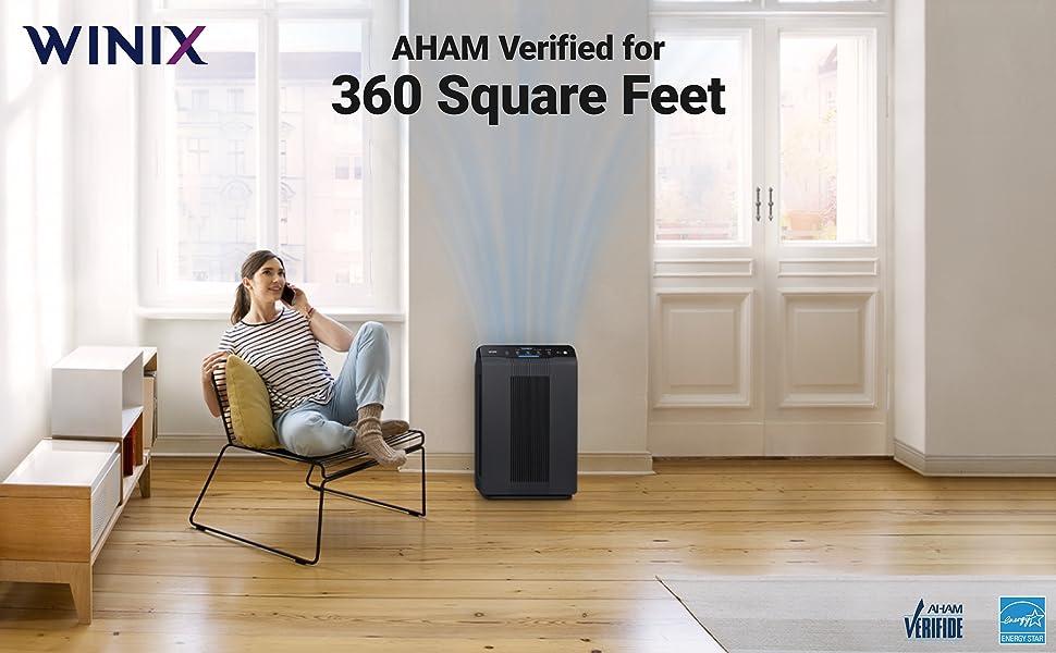 5500-2 Air Purifier AHAM Verified at 360 Square Feet