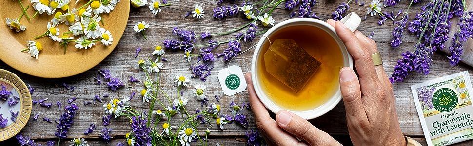 chamomile lavender tea herbal wellness traditional medicinals