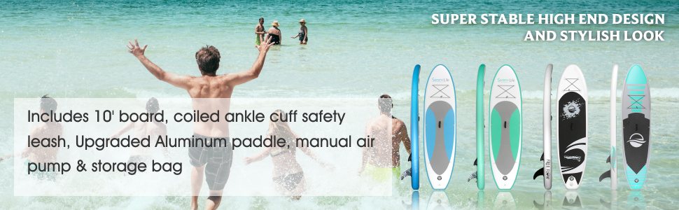 sereneLife inflatable stand up paddle board footer banner