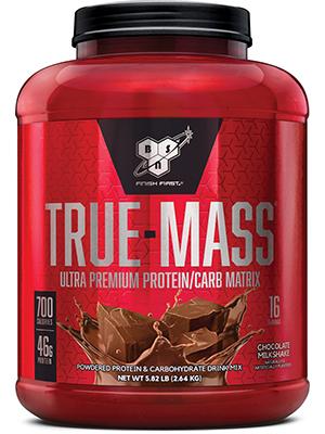 BSN TRUE-MASS Weight Gainer, Muscle Mass Gainer Protein Powder, Chocolate  Milkshake, 5 82 Pound
