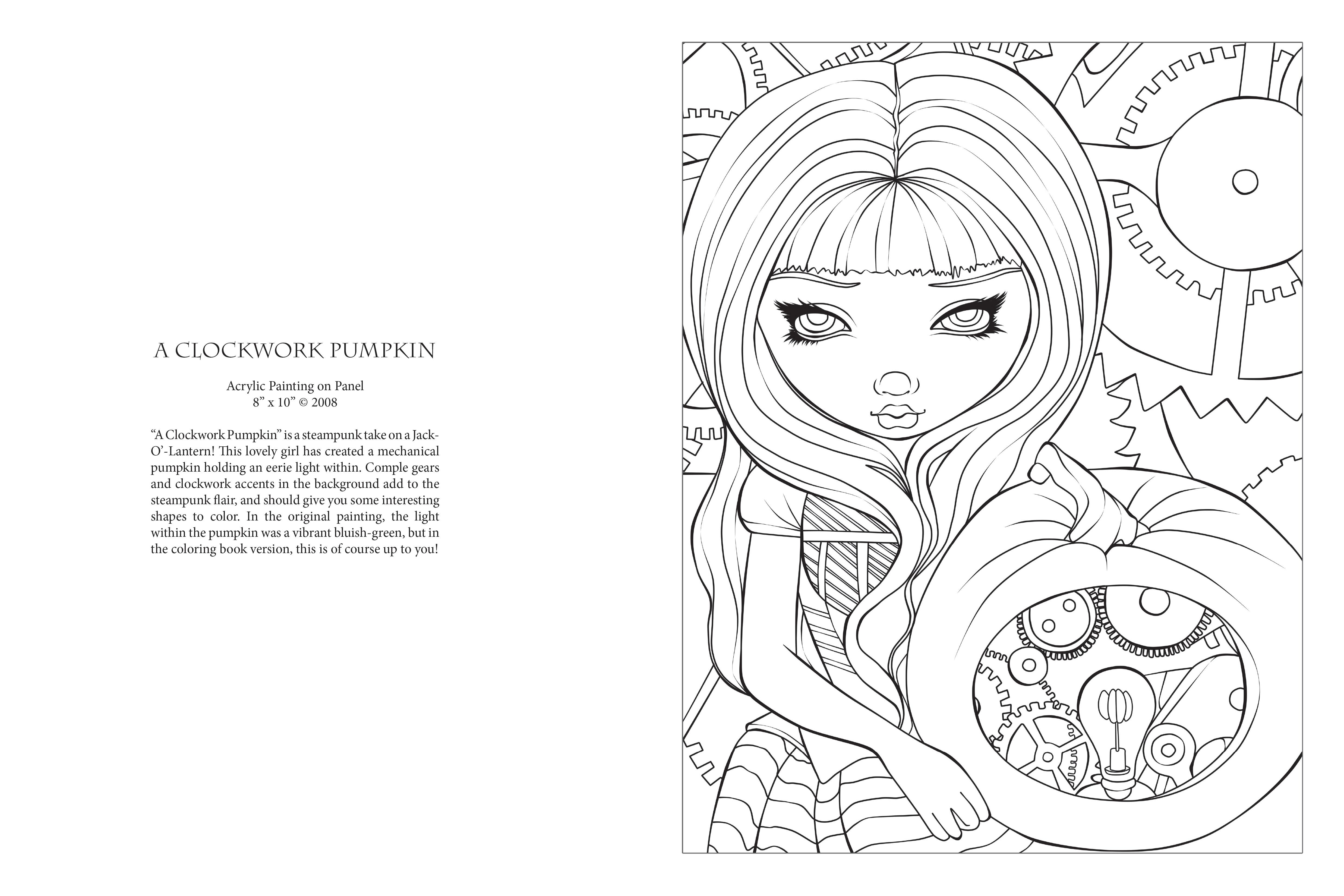 Amazon.com: Jasmine Becket-Griffith Halloween Coloring Book: A ...