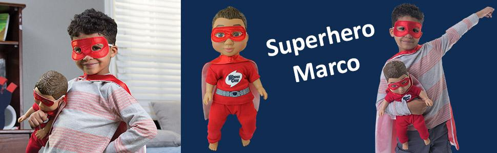 Amazoncom Wonder Crew Superhero Buddy Marco Toys Games - 18 then and now photos of your favourite on screen superheroes