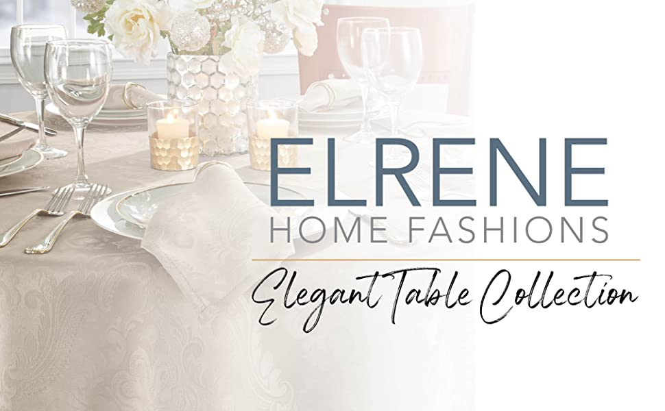 elrene home fashions elegant tablecloth or table linens