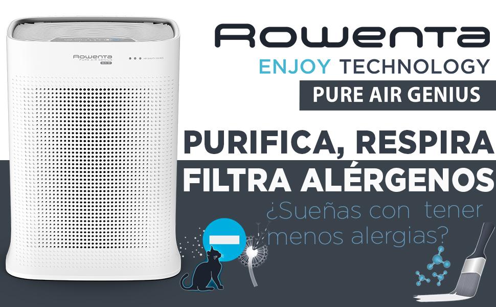 Rowenta Pure Air PU3040 - Purificador, filtración alérgenos y ...