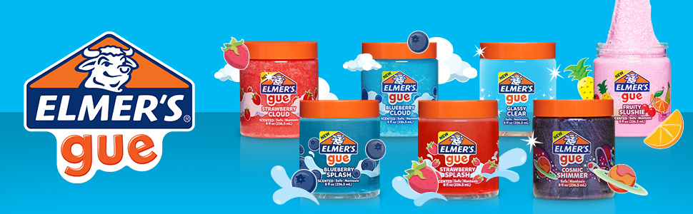 2 Count Strawberry Cloud Slime Elmers GUE Pre Made Slime Scented