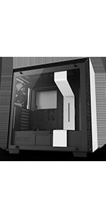 Nzxt H500 Kompaktes Atx Mid Tower Gehäuse Für Computer Zubehör