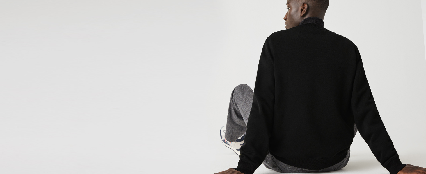 Back mannequin in black Lacoste sweatshirt