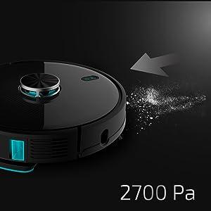 Cecotec Robot Aspirador Conga Serie 4090. 2700 Pa, Gestión y Edición de Habitaciones, App con hasta 5 Mapas, Aspira, Barre, Friega y Pasa la Mopa, Alexa y Google Home, Apto para Wi-Fi