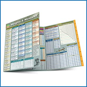 Quick Study QuickStudy Weights Measure Laminated Reference Guide BarCharts Publishing Math Guides
