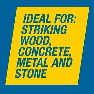 jackson, hammer, sledge, 10, pound, wood, concrete, metal, stone, steel, fiberglass