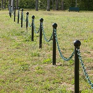 Evergreen ground poles at park