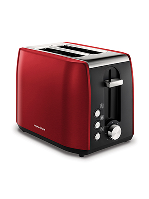 Morphy Richards 222060 Stainless Steel 2 Slice Toaster, Red