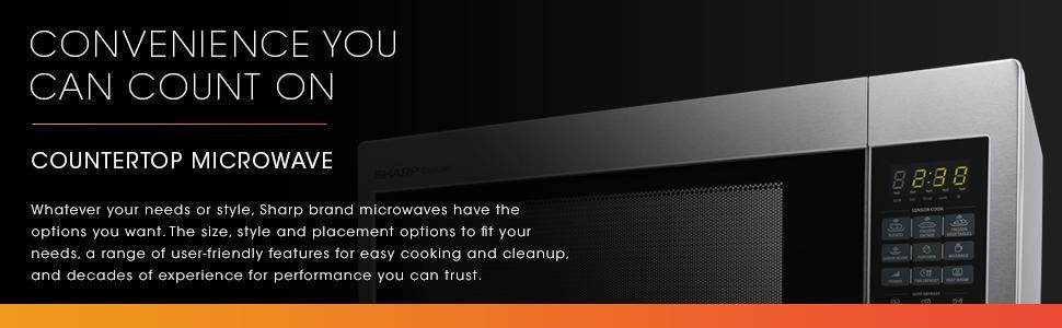 Amazon Com Sharp Countertop Microwave Oven Zr651zs 2 2 Cu