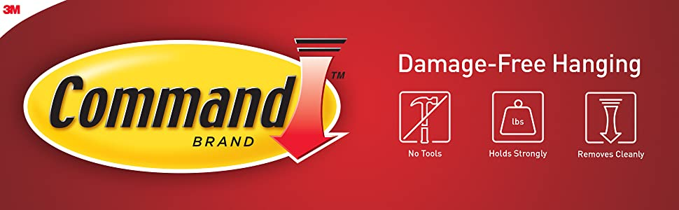 Command Brand Damage-Free Hanging graphics No tools, holds strongly, removes cleanly