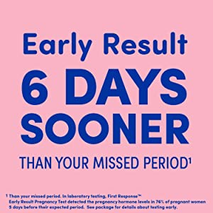First Response Early Result Pregnancy Test When you may be pregnant the earlier you know the better