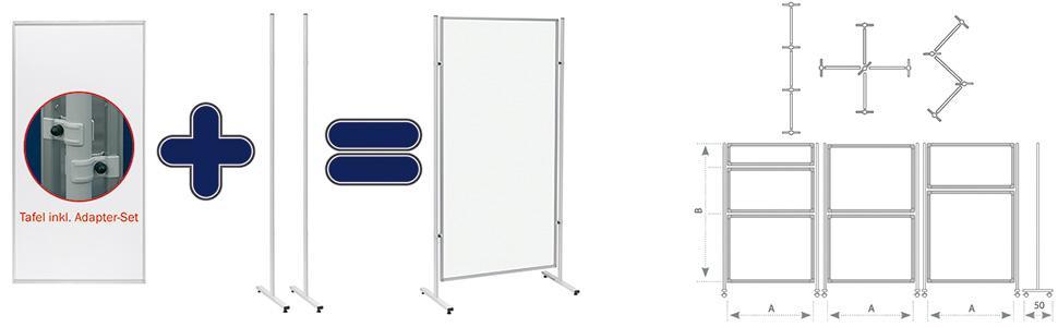 120 x 150 cm wei/ß Franken EL-UTS150 Magnetische Schreibtafel Eco