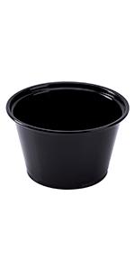 Karat  4 oz Black PP Portion Cups
