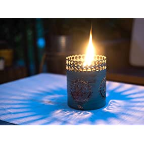 Tiki; Flameshield; Metal; Table; Torch; Outdoor; Oil; Candle;