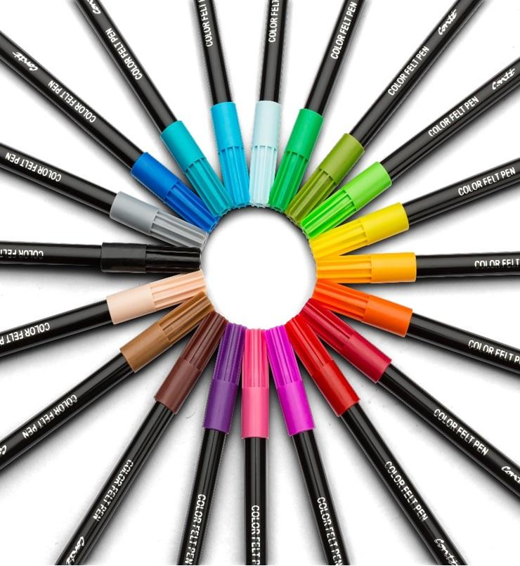 BIC Color Collection By Conte Adult Coloring Felt Pens