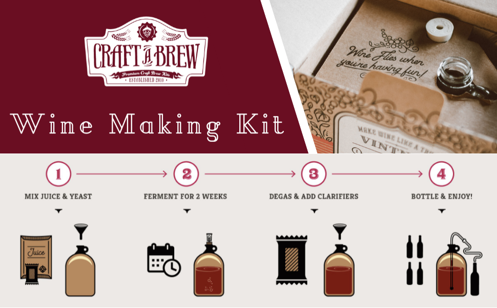 craft a brew logo and wine making instructions