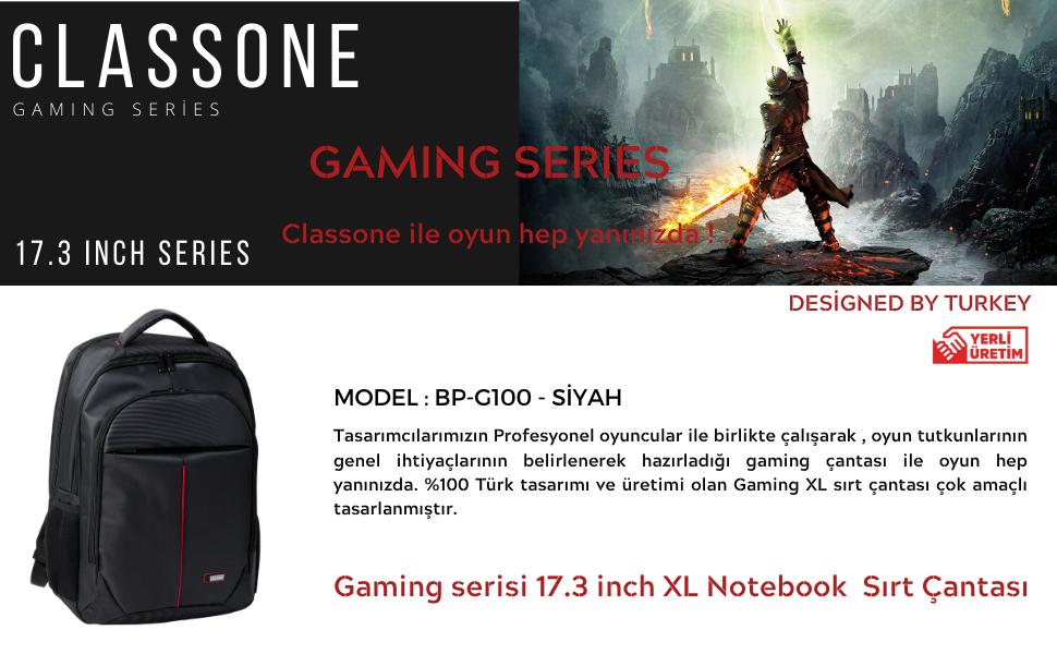 Gaming Sırt Çantası; Oyuncu Çantası; classone; Classone sırt çantası; Laptop çantasi; Notebook çanta