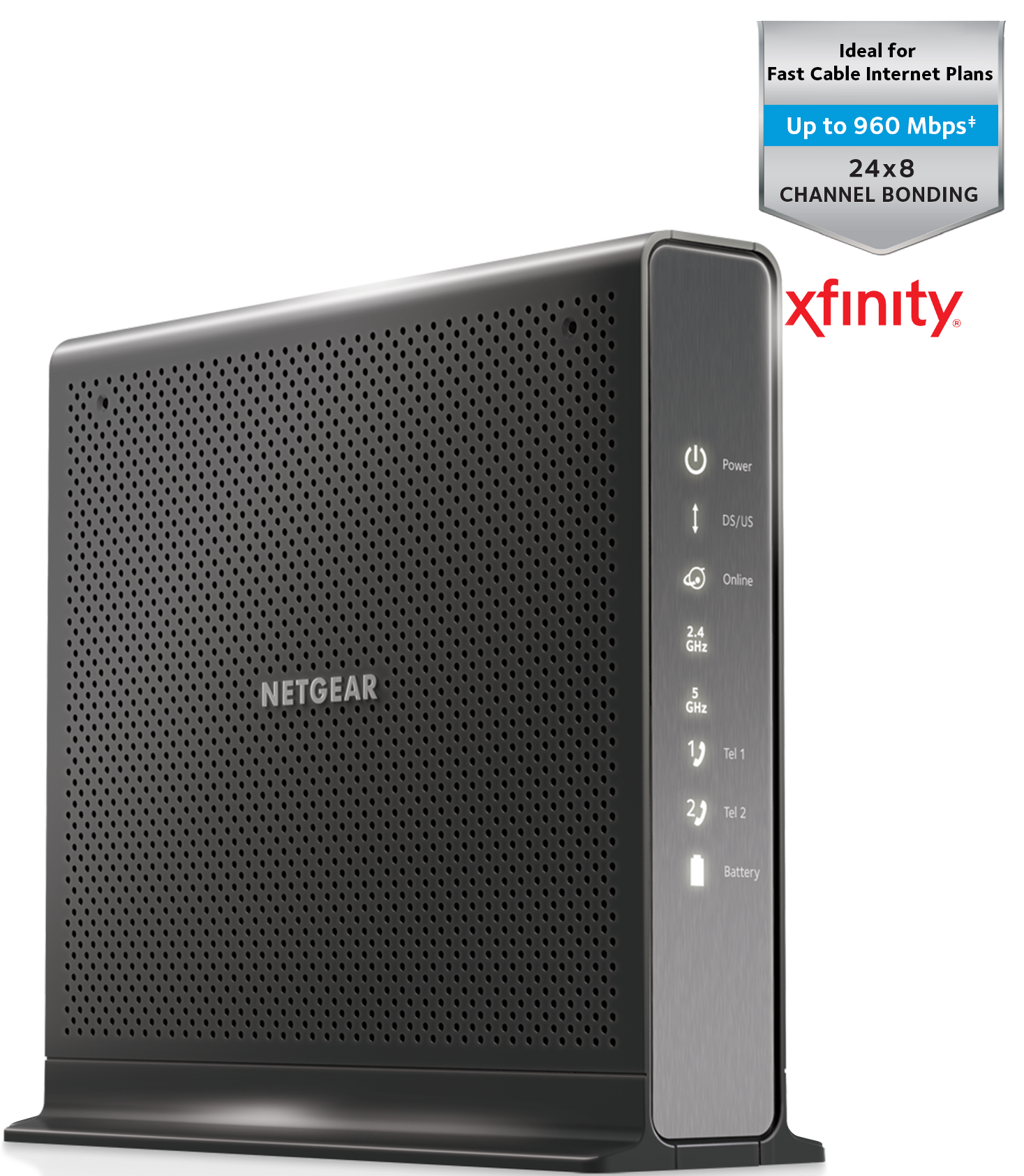 Amazon.com: NETGEAR Nighthawk AC1900 (24x8) DOCSIS 3.0 ...