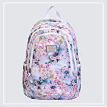 Lino Perros Women Multi Colored Floral Print Backpack SPN FOR1