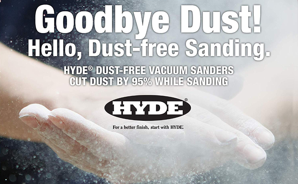 Hyde 09165 Dust-Free Vacuum Hand Sanding Kit with 6' Hose